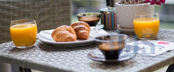 Juice Orange Croissant coffee